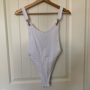 NASTY GAL WHITE BODYSUIT